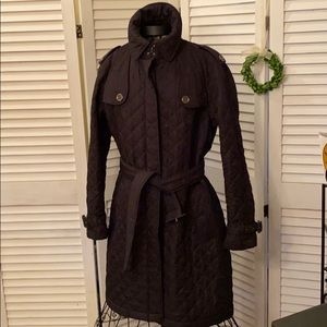 Burberry Quilted Trench style coat